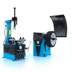 Bandwisselaar en balanceermachine (RP-U221PN 400V2S en RP-U120PN) zijn verkrijgbaar in de set