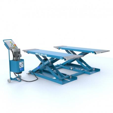 Mobiele schaarhefbrug, hydraulische van 3,0 ton - 400V Lengte